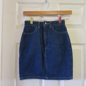 Dark wash indigo high waisted denim skirt XS